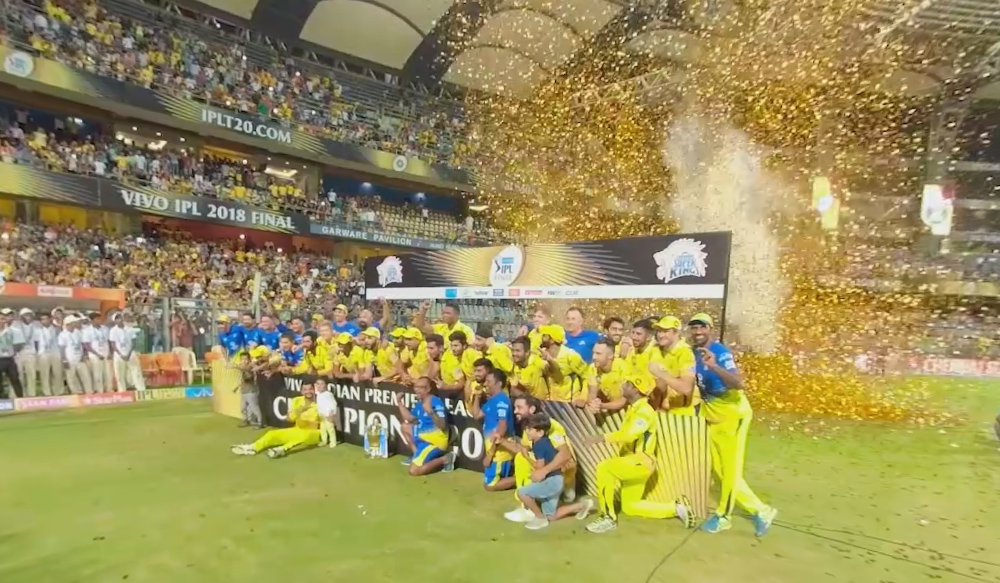 Chennai Super Kings lift the trophy! May 27