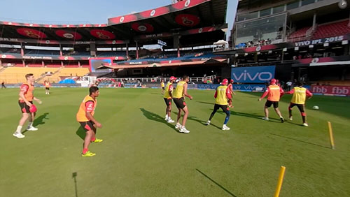 RCB & KXIP practicing a day before the game, April 12