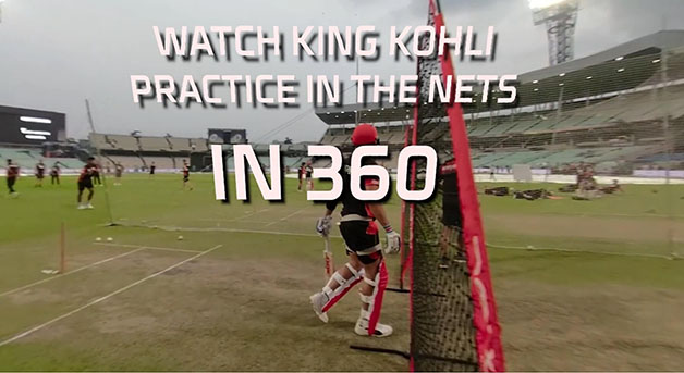 Kohli practicing in the nets, April 8